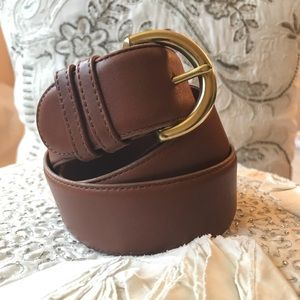 Coach Classic Genuine Leather British Tan Belt